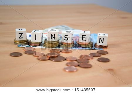 Zinsen - the german word for interest