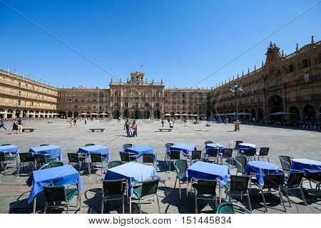The Plaza Mayor In Salamanca, Spain