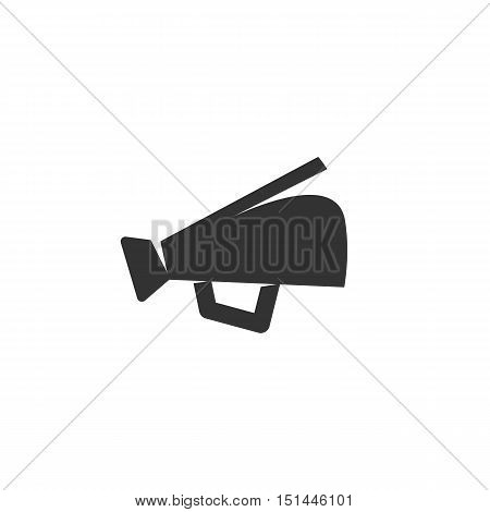 Megaphone Icon isolated on a white background. Megaphone Logo design vector template. Simple Logotype concept icon. Symbol, sign, pictogram, illustration - stock vector