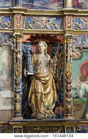 Saint Barbara In The Old Cathedral Of Salamanca