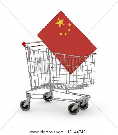 Shopping Cart With China Flag