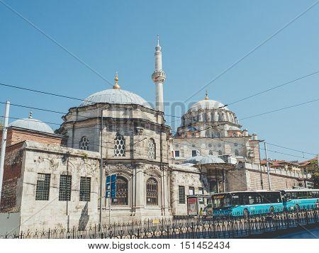 Zeytinburnu Istanbul Turkey - September 17 2016: Laleli Camii or Laleli Mosque in Fatih.