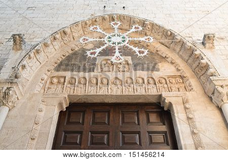 Mother church of St. Nicola. Rutigliano. Puglia. Italy.