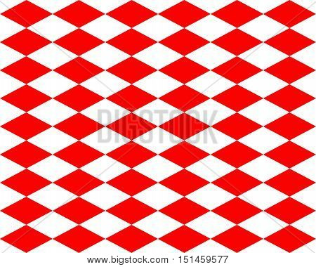 Red And White Rhombs