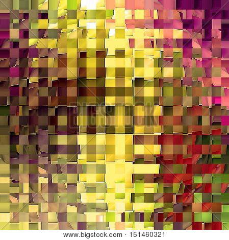 Abstract coloring background of the horizon gradient with visual mosaic, cubism,spherize and wave effects