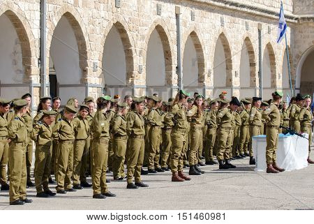 Oath Ceremony Of Recruits Of The Israel Defense Forces