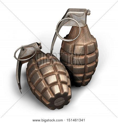 Hand Grenade. Weapon Of Terrorists. Sales Of Weapons. Place For Your Text.
