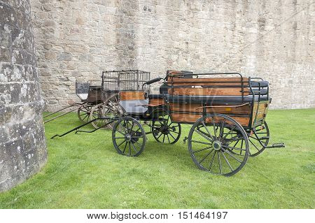 carriage in Vannes a commune in the Morbihan department in Brittany in north-western France