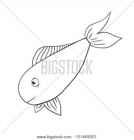 vector hand drawn fish - salmon, trout, carp, tuna. fish drawing. fish sketch elements. salmon outline. tuna fish outline. carp fish outline.