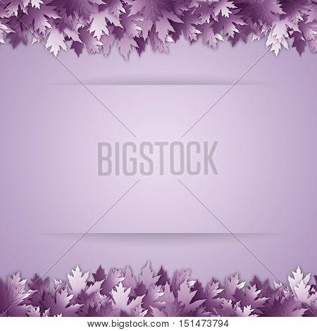 an illustration of a violet Leaves background