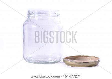 Glass Jar Jug Clear Transparent White Isolated Background Fresh Food Storage Tool Kitchen Object Hou