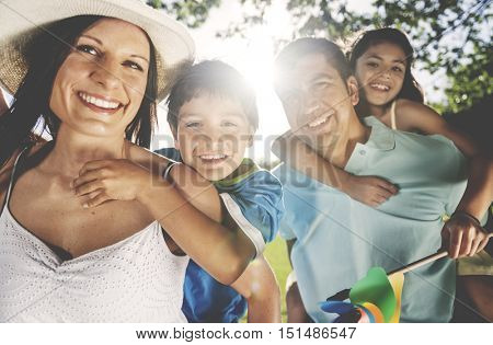 Family Leisure Activity Happiness Bonding Concept