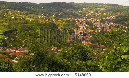 View of Remete Valley in Szekszard from the Calvary