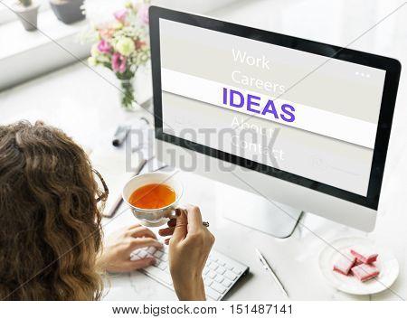 Ideas Creative Thinking Success Concept