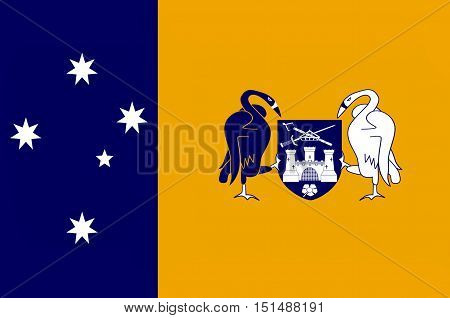 Flag of Australian Capital Territory (ACT) - Canberra is a territory in the south east of Australia enclaved within New South Wales