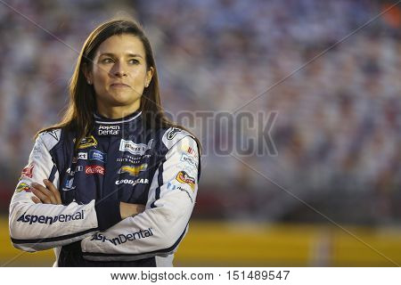 Concord, NC - Oct 06, 2016: Danica Patrick (10) waits to qualify for the Bank of America 500 at the Charlotte Motor Speedway in Concord, NC.
