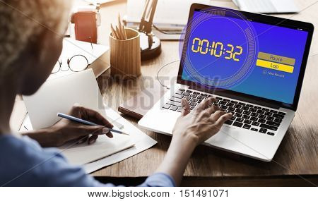 Stopwatch Clock Time Countdown Graphic Words