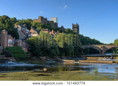 Durham City a historic town by the river wear England.