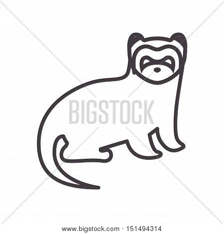 silhouette with nutria wild animal vector illustration
