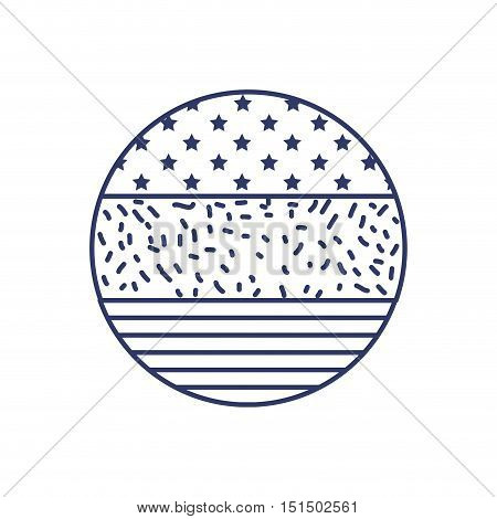silhouette sphere with united states flag vector illustration