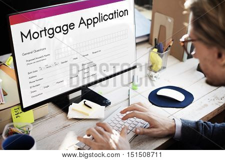 Mortgage Application Home Loan Concept