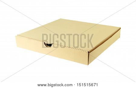 Pizza Box Corrugated Paper isolated on white background