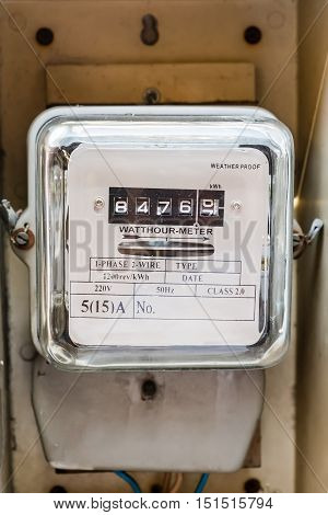 Watt hour/Electric meters in box. measurement tool.