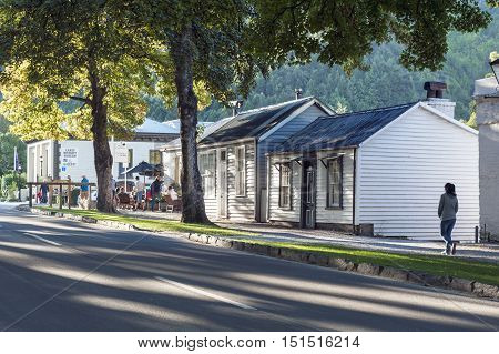 Arrowtown, New Zealand - February 2016: Historic Settlement Of Arrowtown
