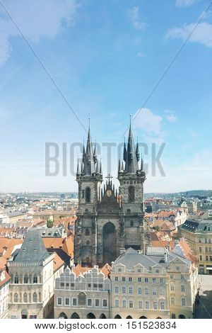 Tyn Church in Prague; Czech Republic