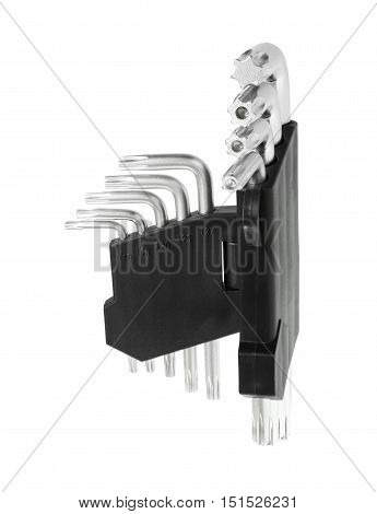 Star Tip L-Wrench Set isolated on white background