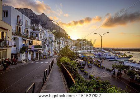 Marina Grande on Capri Island in Italy