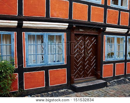 Traditional old classic vintage decorative colored picturesque style Danish house home Denmark Scandinavia