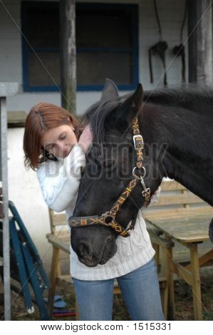 Woman And Horse 2