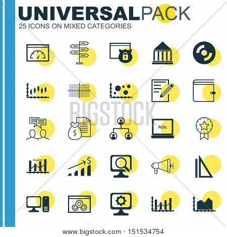 Set Of 25 Universal Icons On Square Diagram, Successful Investment, Sequence Graphics And More Topic