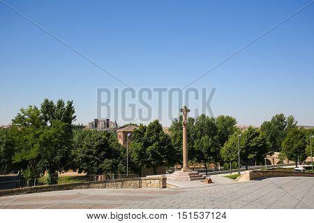 Crucero Of The Puerta Del Rio In Salamanca, Spain