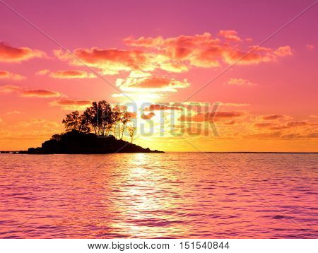 Island Sunset Coast