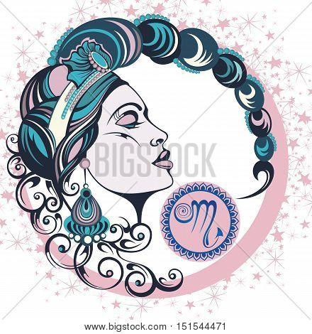 Decorative Zodiac sign Scorpio for your design
