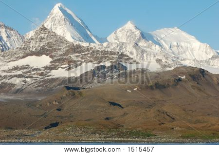Mountain Scenery In The Antartic