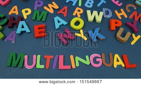 Multilingual in colorful wording