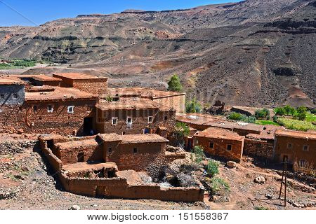 Berber Rural Architecture Of Atlas Mountains Region In Morocco