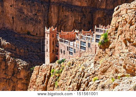 Viewpoint Over Serpentine Mountain Trail In Gorges Dades Morocco