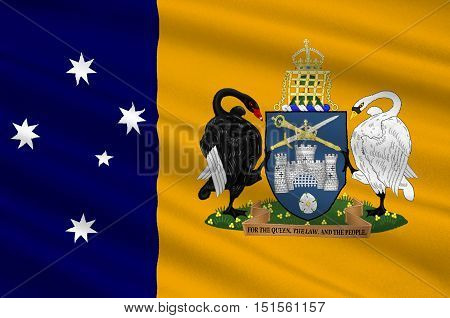 Flag of Australian Capital Territory (ACT) - Canberra is a territory in the south east of Australia enclaved within New South Wales. 3d illustration