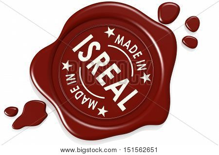 Label Seal Of Made In Isreal