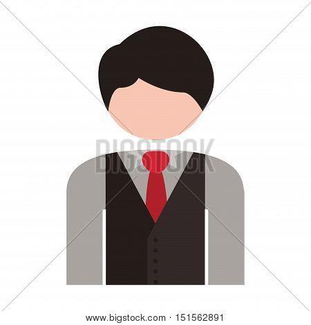 half body men blazer caucasian vector illustration