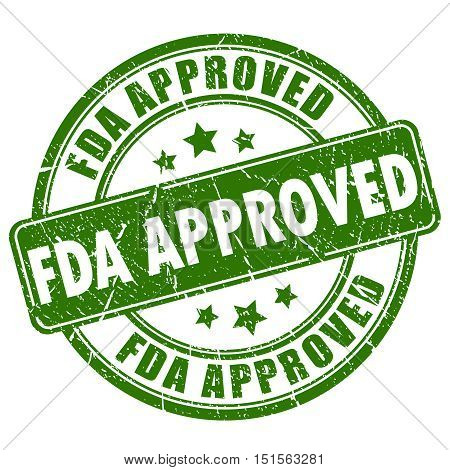 Fda approved rubber stamp vector illustration isolated on white background