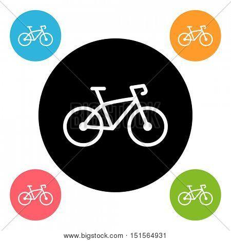 Round bike icon