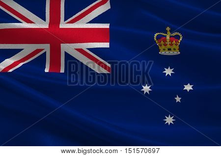 Flag of Victoria (Vic) is a state in the south-east of Australia. 3d illustration