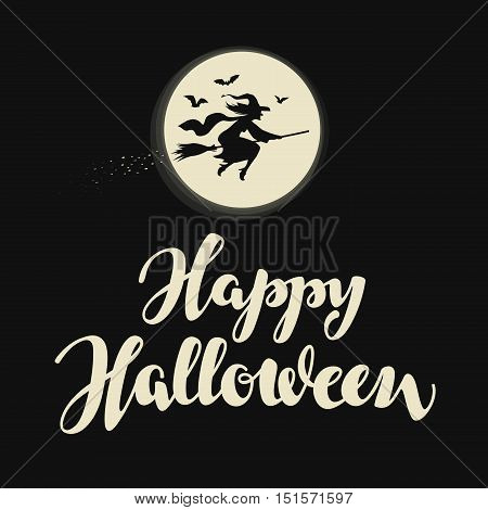 Happy Halloween banner. Vector illustration. Holiday greeting card