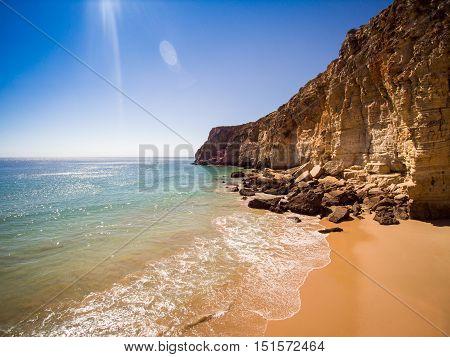 Cliffs Of Beliche Beach, Saint Vincent Cape, Portugal