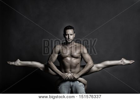 Sexy Young Couple Dancing In Studio